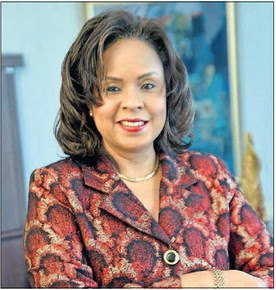 CEO of the Trinidad and Tobago Stock Exchange, Amoy Van Lowe, in her office at Nicholas Towers on Independence Square in Port of Spain, last week. -PHOTO: JERMAINE CRUICKSHANK